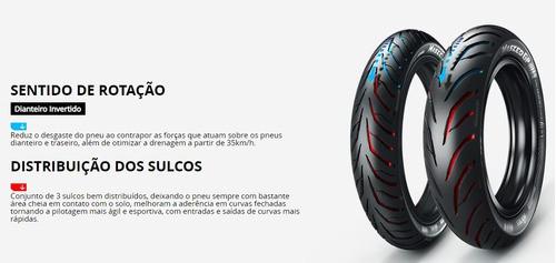 Cb 250 Nova Twister Pneu Dianteiro E Traseiro Tam Original