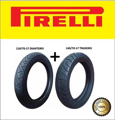 Combo Pneus Cb 300 Pirelli Dianteiro + Traseiro Sem Camara
