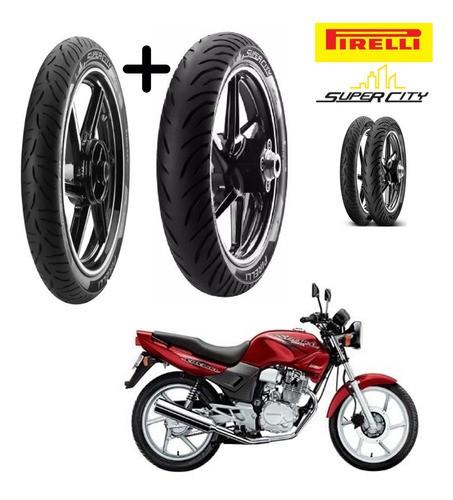 Combo Pneus Honda Cbx 200 Strada Diant+ Tras S/ Cam Pirelli