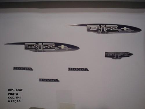 Faixa Biz 100 + 02 - Moto Cor Prata - Kit 544