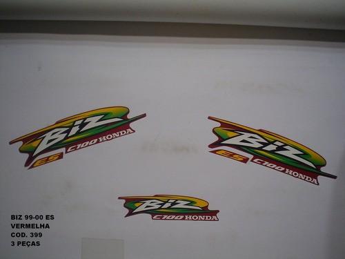 Faixa Biz 100 99/00 - Moto Cor Vermelha - Kit 399