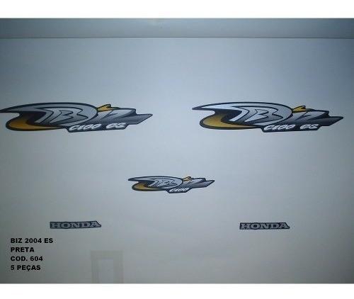 Faixa Biz 100 Es 04 - Moto Cor Preta - Kit 604