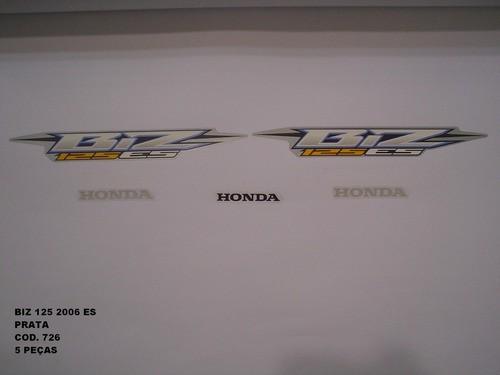 Faixa Biz 125 Es 06 - Moto Cor Prata (726 - Kit Adesivos)