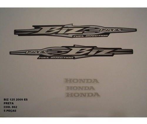 Faixa Biz 125 Es 09 - Moto Cor Preto (862 - Kit Adesivos)