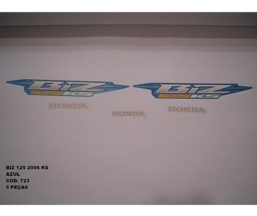 Faixa Biz 125 Ks 06 - Moto Cor Azul (723 - Kit Adesivos)