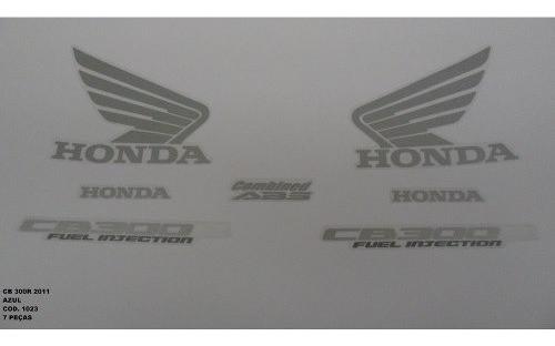Faixa Cb 300r 11 - Moto Cor Azul Metalico - Kit 1023