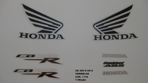Faixa Cb 300r 13 - Moto Cor Vermelha (1118 - Kit Adesivos)