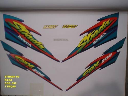Faixa Cbx 200 Strada 99 - Moto Cor Roxa - Kit 382