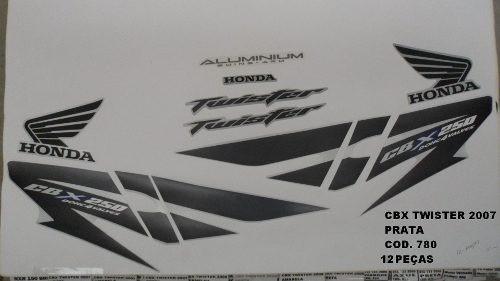 Faixa Cbx 250 Twister 07 - Moto Cor Prata - Kit 780