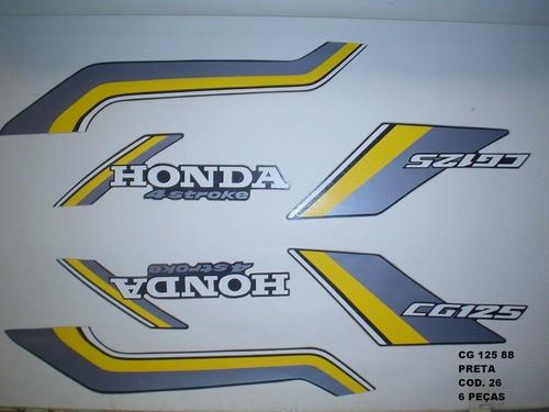 Faixa Cg 125 88 - Moto Cor Preta (26 - Kit Adesivos)