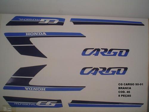 Faixa Cg 125 Cargo 90/91 - Moto Cor Branca - Kit 46