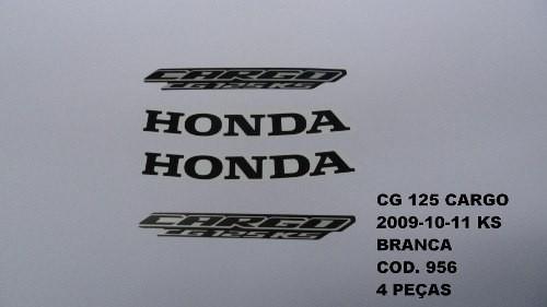 Faixa Cg 125 Cargo Ks 09/13 - Moto Cor Branco - Kit 956