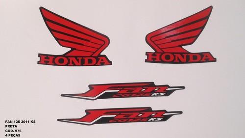 Faixa Cg 125 Fan Ks 11 - Moto Cor Preta (976 - Kit Adesivos)
