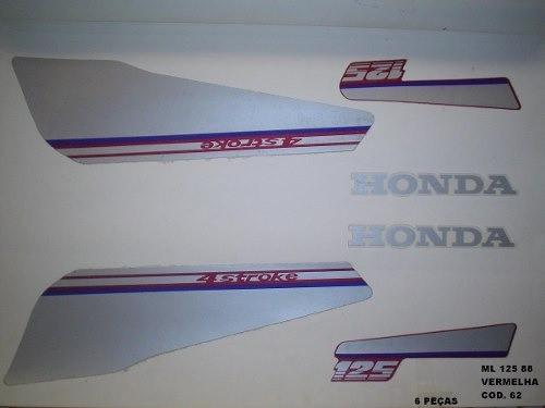 Faixa Cg 125 Ml 88 - Moto Cor Vermelha (62 - Kit Adesivos)