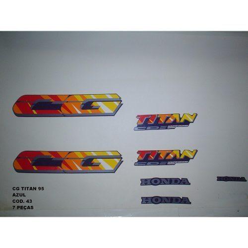 Faixa Cg 125 Titan 95 - Moto Cor Azul (43 - Kit Adesivos)