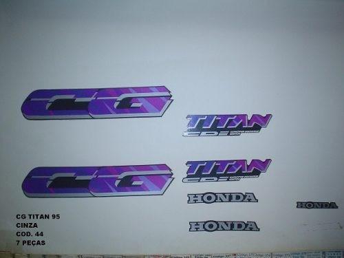 Faixa Cg 125 Titan 95 - Moto Cor Cinza (44 - Kit Adesivos)