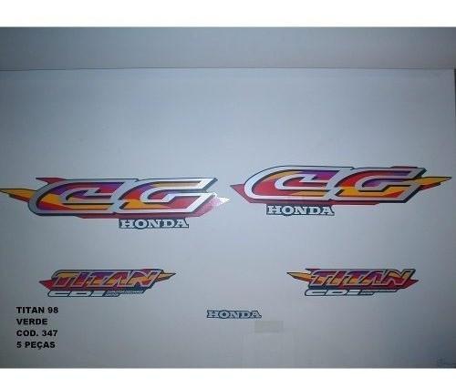 Faixa Cg 125 Titan 98 - Moto Cor Verde (347 - Kit Adesivos)