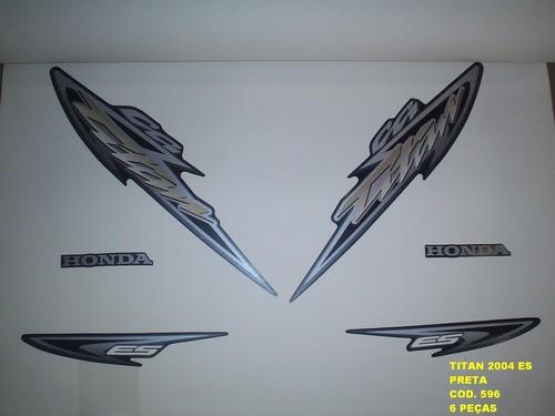 Faixa Cg 125 Titan Es 04 - Moto Cor Preta - Kit 596
