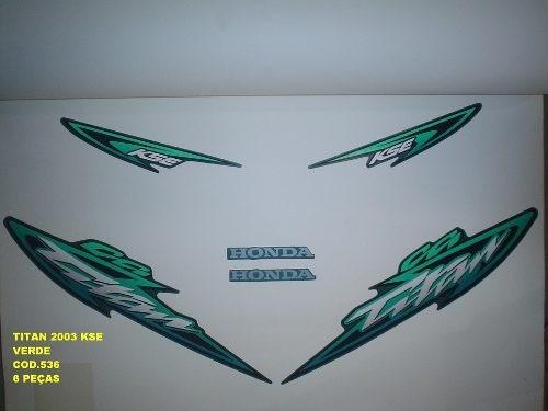 Faixa Cg 125 Titan Kse 03 - Moto Cor Verde - Kit 536