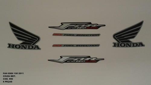 Faixa Cg 150 Fan Esdi 11 - Moto Cor Cinza Met. - Kit 950