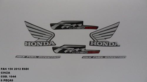 Faixa Cg 150 Fan Esdi 12 - Moto Cor Cinza - Kit 1044