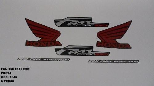 Faixa Cg 150 Fan Esdi 12 - Moto Cor Preta - Kit 1045
