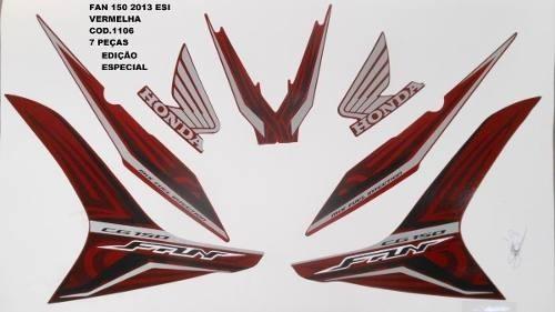Faixa Cg 150 Fan Esi Esp 13 - Moto Cor Verm. - Kit 1106