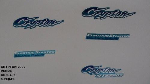 Faixa Crypton 02 - Moto Cor Verde (495 - Kit Adesivos)
