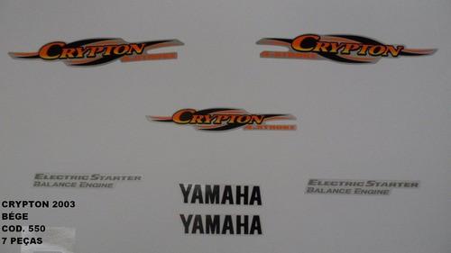 Faixa Crypton 03 - Moto Cor Bege - Kit 550