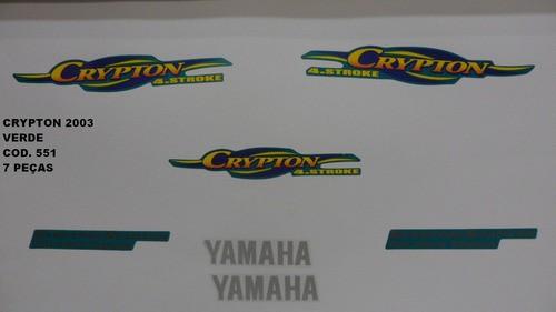 Faixa Crypton 03 - Moto Cor Verde (551 - Kit Adesivos)