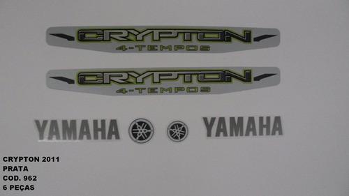 Faixa Crypton 11 - Moto Cor Prata (962 - Kit Adesivos)