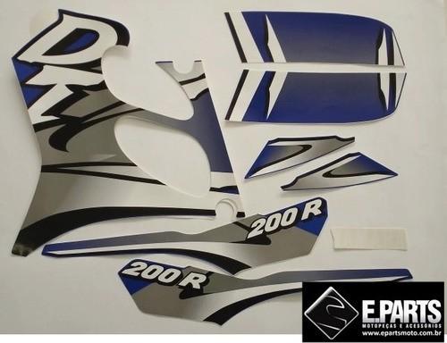 Faixa Dt 200r 00 - Moto Cor Azul (543 - Kit Adesivos)