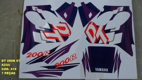 Faixa Dt 200r 97 - Moto Cor Azul (419 - Kit Adesivos)