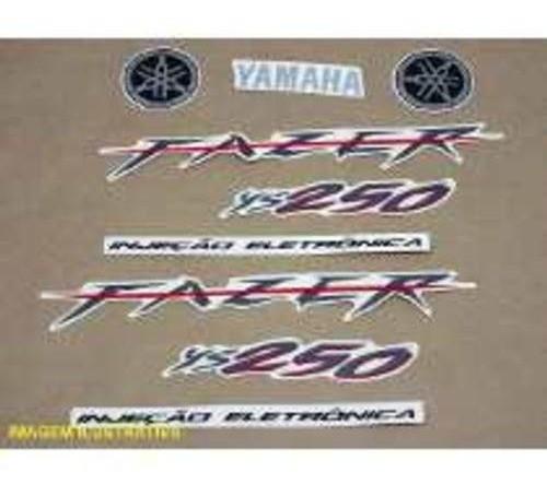 Faixa Fazer 250 09 - Moto Cor Preta (kit Adesivos)