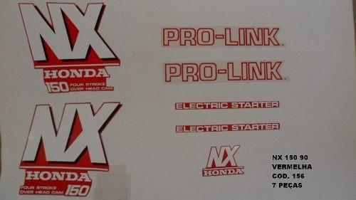 Faixa Nx 150 90 - Moto Cor Vermelha (156 - Kit Adesivos)