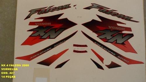 Faixa Nx 400 Falcon 00 - Moto Cor Vermelha - Kit 427
