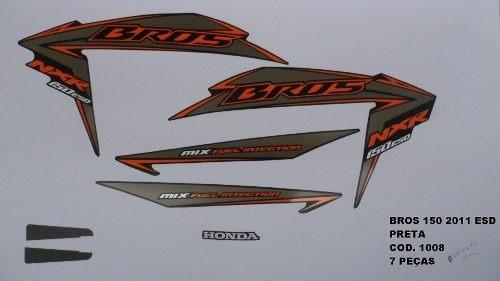 Faixa Nxr 150 Bros Esd 11 - Moto Cor Preta - Kit 1008