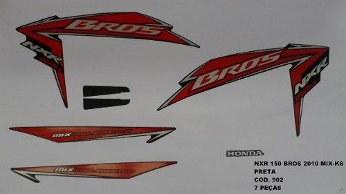 Faixa Nxr 150 Bros Ks Mix 10 - Moto Cor Preta - Kit 902
