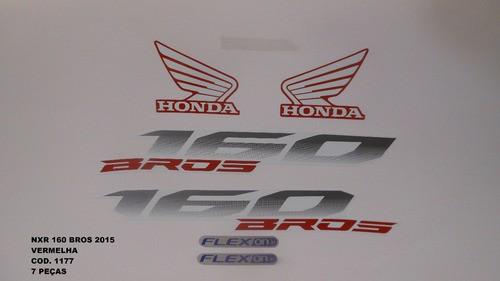 Faixa Nxr 160 Bros 15 - Moto Cor Vermelha - Kit 1177