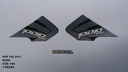 Faixa Pop 100 11 - Moto Cor Roxa (944 - Kit Adesivos)