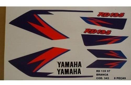 Faixa Rd 135 97 - Moto Cor Branca (343 - Kit Adesivos)