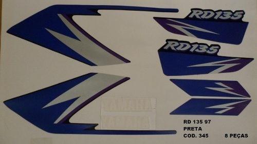 Faixa Rd 135 97 - Moto Cor Preta (345 - Kit Adesivos)