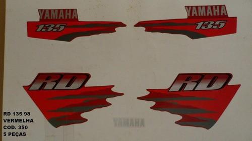 Faixa Rd 135 98 - Moto Cor Vermelha (350 - Kit Adesivos)