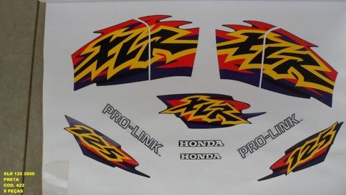 Faixa Xlr 125 00 - Moto Cor Preta - Kit 422