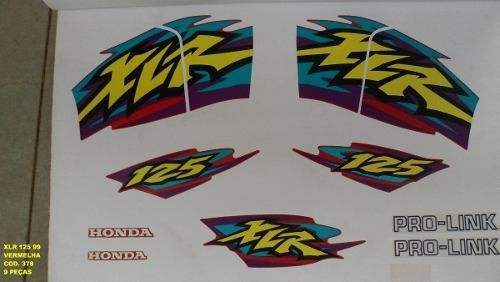 Faixa Xlr 125 99 - Moto Cor Vermelha - Kit 378