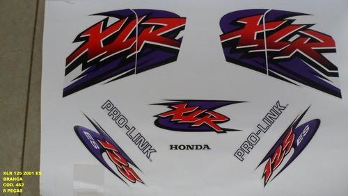 Faixa Xlr 125 Es 01 - Moto Cor Branca 462 - Kit Adesivos