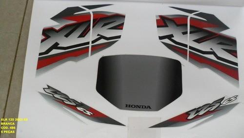 Faixa Xlr 125 Es 02 - Moto Cor Branca (486 - Kit Adesivos)
