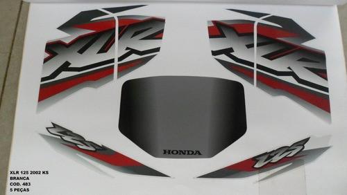 Faixa Xlr 125 Ks 02 - Moto Cor Branca (483 - Kit Adesivos)