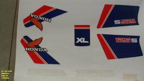 Faixa Xls 125 84 - Moto Cor Branca (96 - Kit Adesivos)