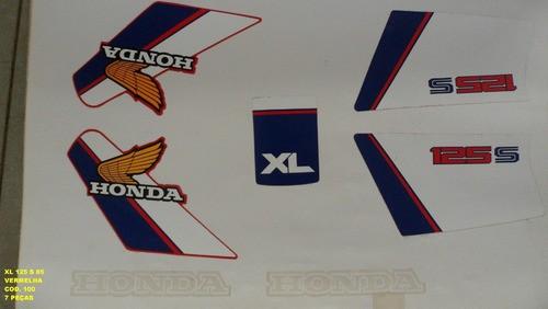 Faixa Xls 125 85 - Moto Cor Vermelha (100 - Kit Adesivos)